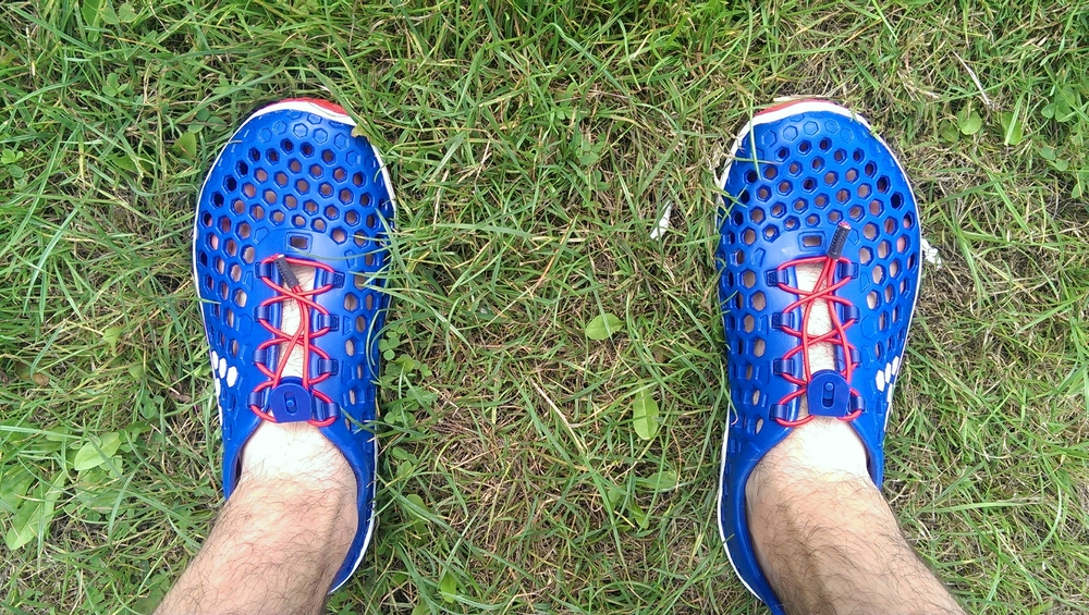 My Vivobarefoot amphibious outers. Barefoot trainers bridge the gap between regular trainers and barefooting.
