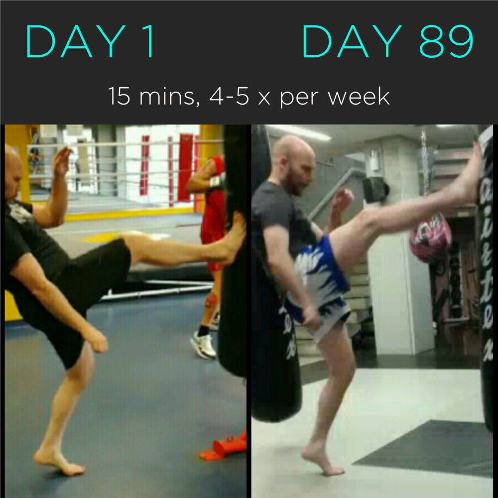 Before and after of online work with a recreational Muay Thai fighter  . . . .