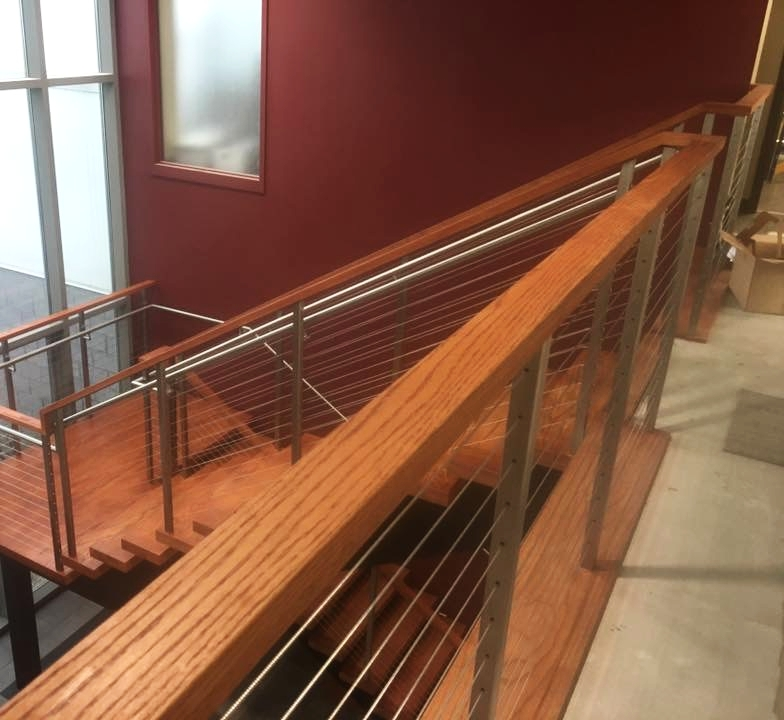 Commercial cable railing system