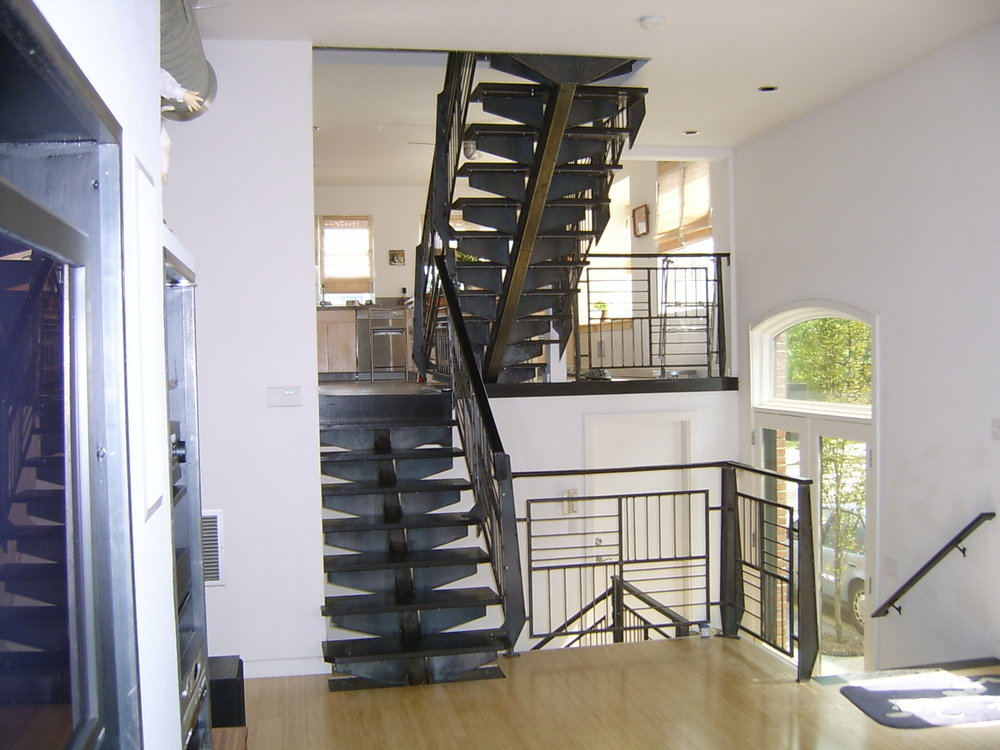 Unique staircase and railing