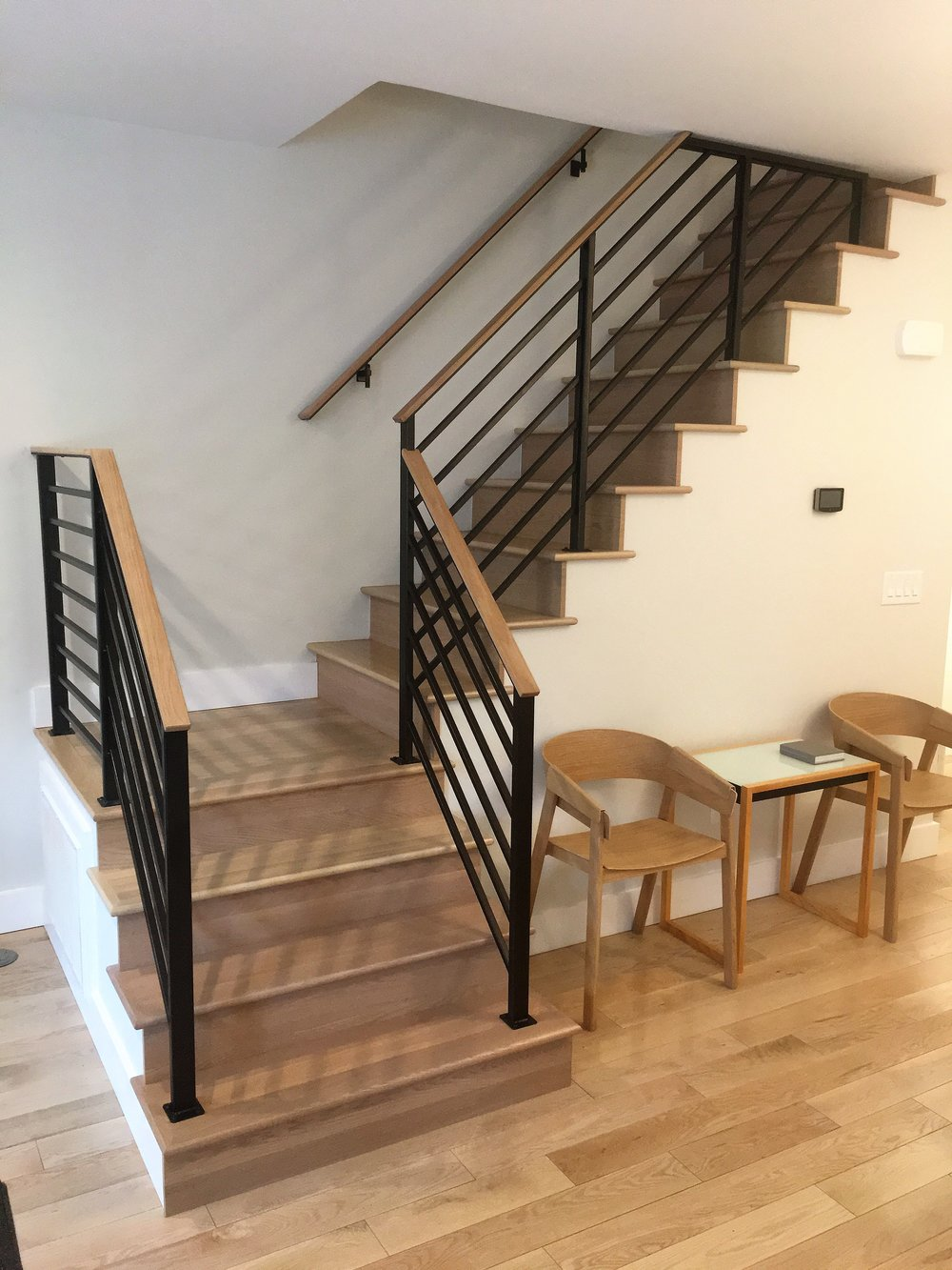 Horizontal steel railing