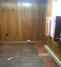 Brenda Waugh's office before the floor was painted black.