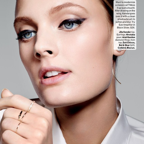 GLAMOUR - MARCH 2015 |  DIAMOND STACKING   HAMMER RING S