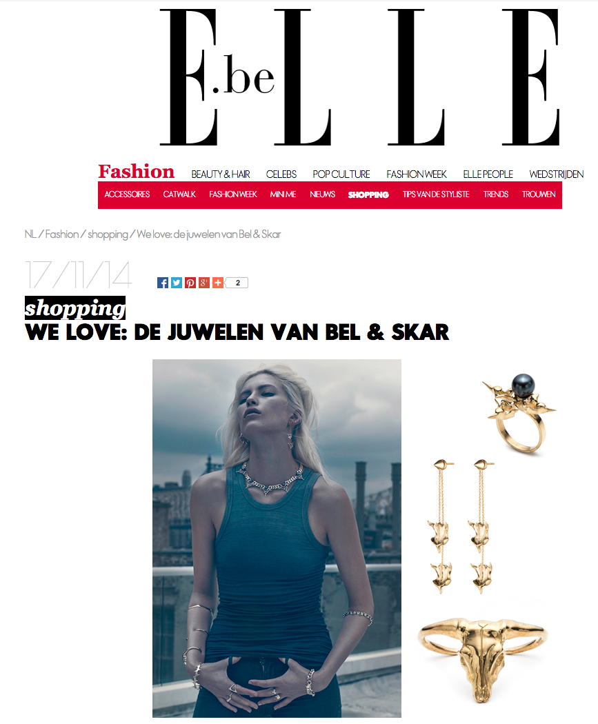 ELLE BELGIUM |  VERTE COLLECTION