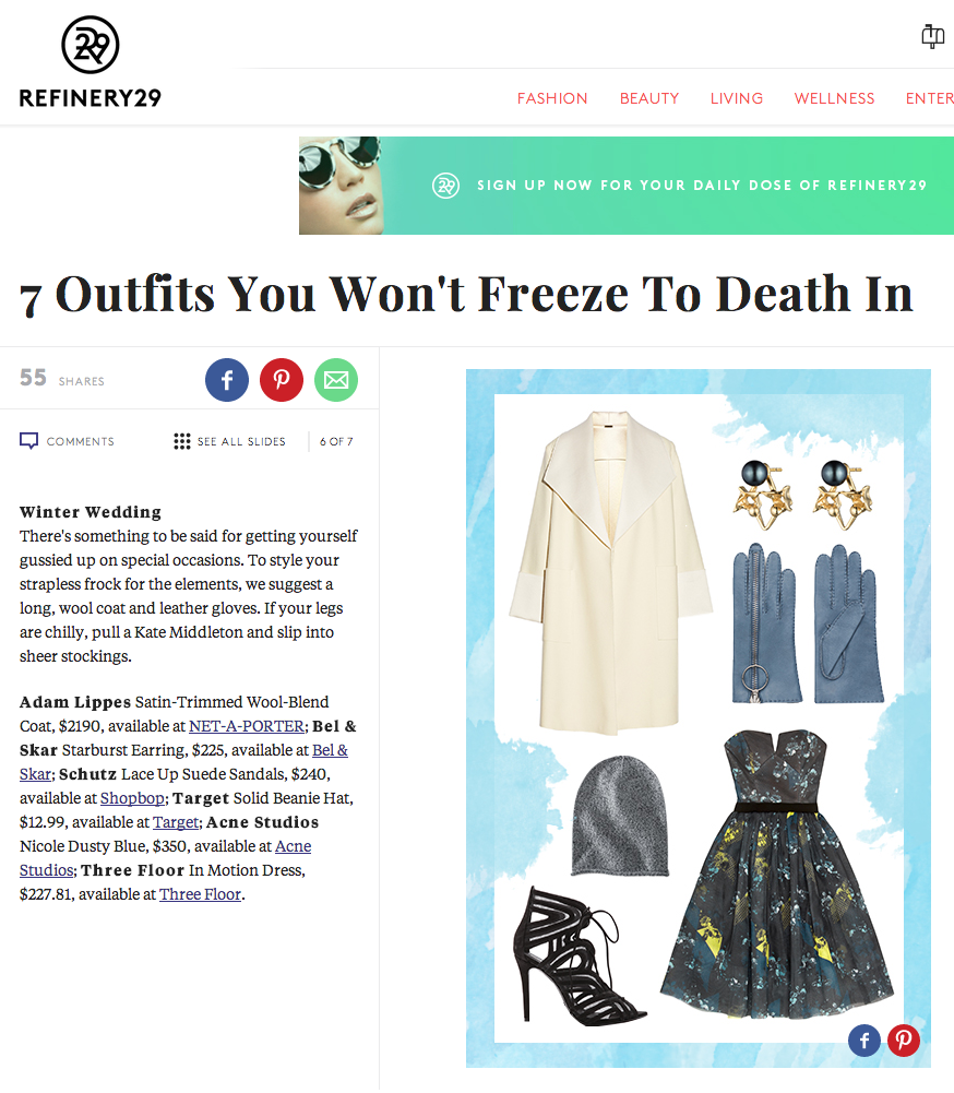 REFINERY 29 - OUTFITS YOU WONT FREEZE IN |  STARBURST EARRINGS