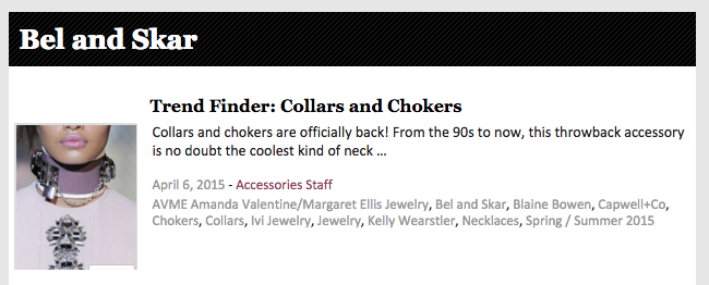 ACCESSORIES MAGAZINE | TREND FINDER - SPRING 2015