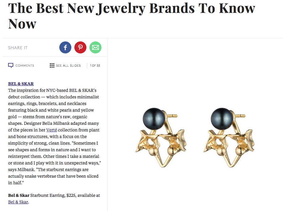 REFINERY 29 | BEST NEW JEWELRY BRANDS TO KNOW - SPRING 2015