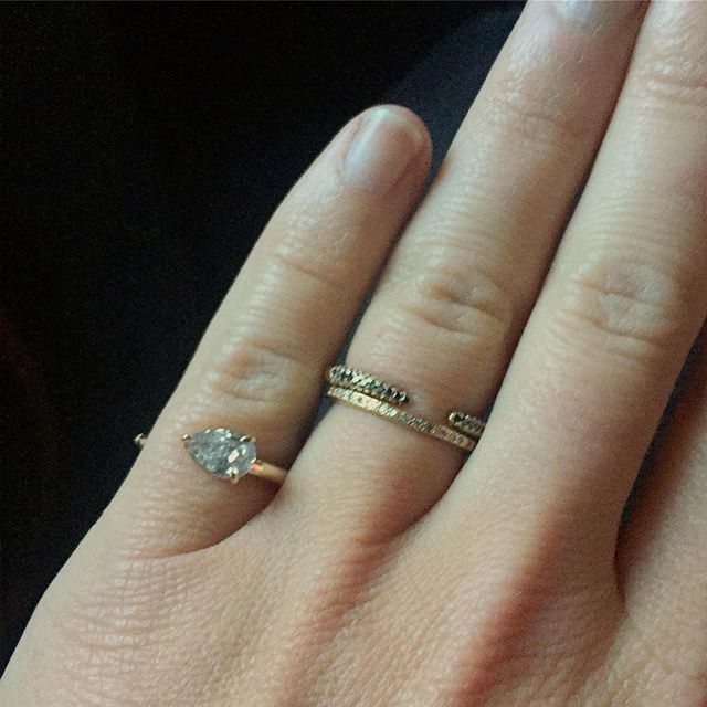 Diamond pinky rings for the win #jewelry #diamonds #finejewelry