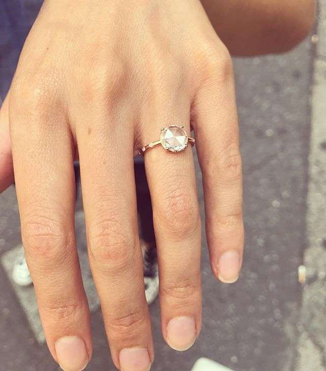 This beauty in her bespoke #Belandskar engagement ring!