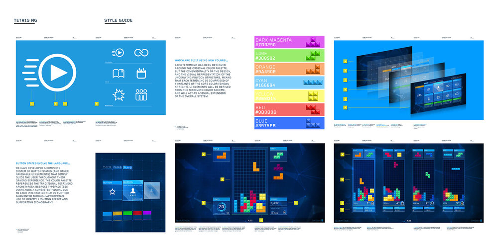 Sample Pages from the Tetris Ultimate Style Guide