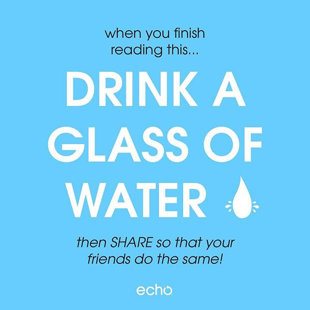Got any tips for drinking more water? 👇🏻 Share 'em below!💧#mondaymotivation