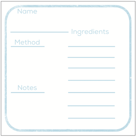 Fill this out loosely, exacting recipes change brand to brand and seasonally with produce.