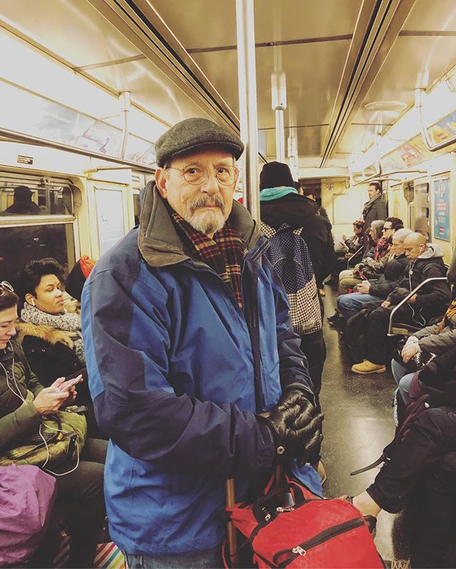 Rick and June were really good sports on the subway. June didn't have to deal with much, but at one point a guy ate a hot fudge sundae over Rick's shoulder. NYC can me rough.