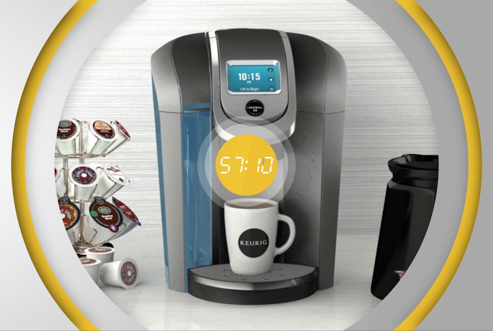 Motion graphics + 3D Models for Keurig