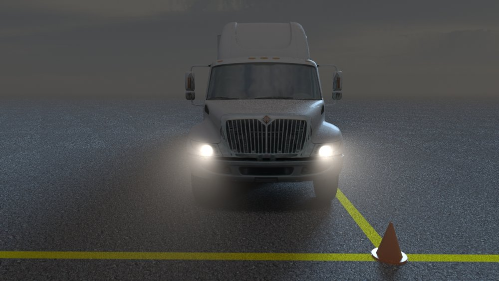 A frame from an animated training video for PepsiCo drivers