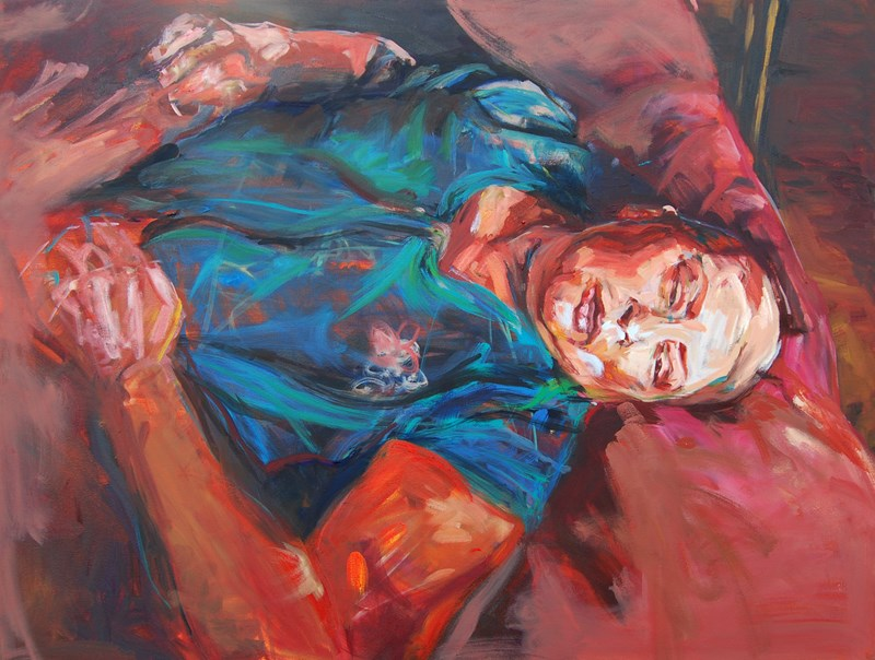 "Painting Janeth (Lamentations)  2012, Oil on Canvas, 36""x48"""