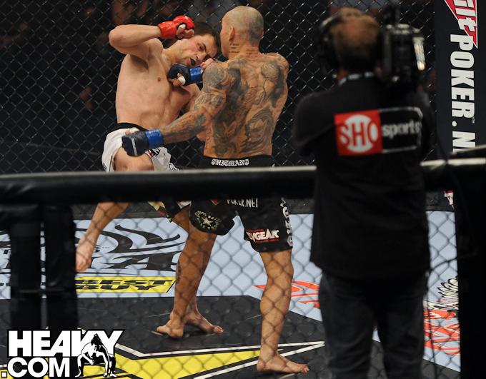 Cyborg KO's his opponent