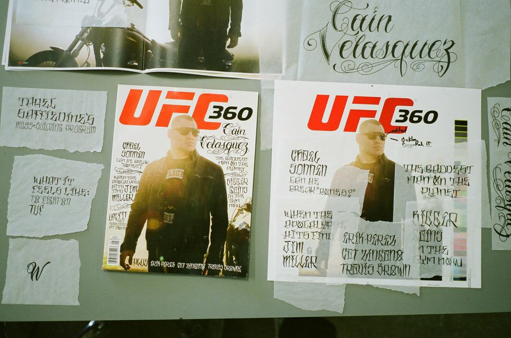Making of UFC 360 cover with Cain Velasquez