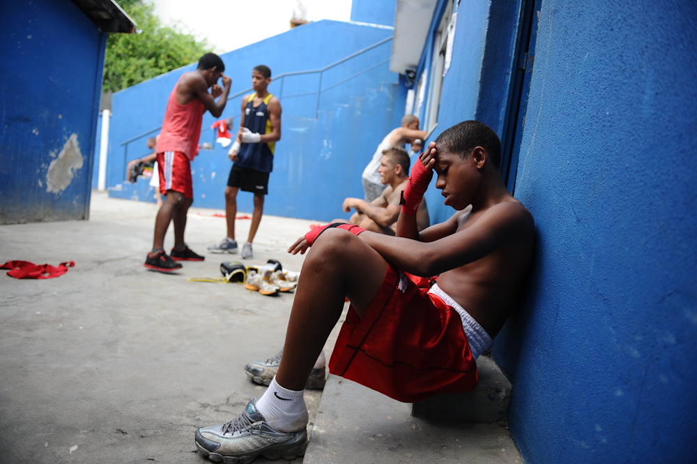 boxers training in Salvador