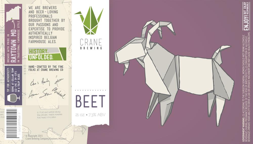 Crane Brewing - Beer Label Design