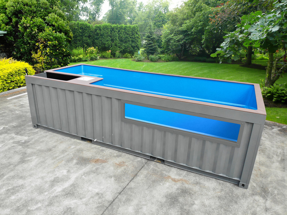 glass panel pool