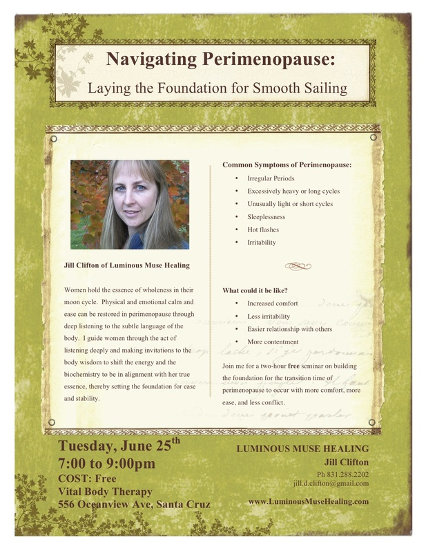 Jill Pettinger Clifton...Navigating Perimenopause: Laying the Foundation for Smooth Sailing