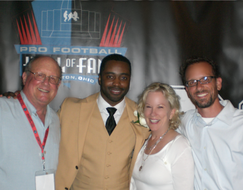 Coach Paul Hackett, Curtis Martin, Elizabeth Hackett, and CI Founder, David Paul Hackett