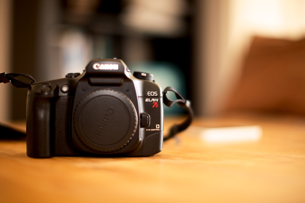 Canon Elan 7E - 35mm Film SLR (as shot using my 5D MkII)