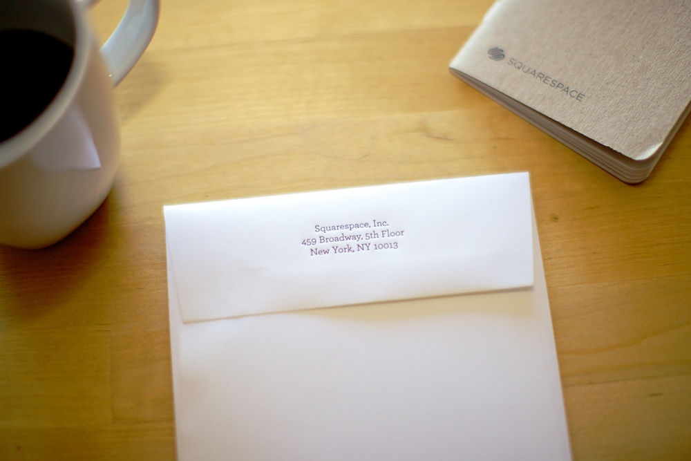 A personal card and a memo book