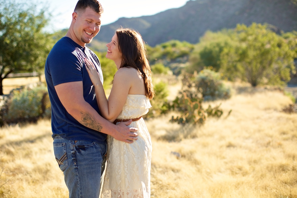 Portrait of couple @ South Mountain Park adjacent to Scorpion Gulch location