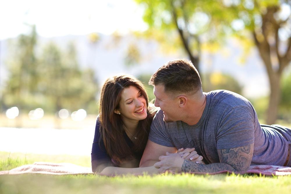 Portrait of couple @ Cesar Chavez Park, Phoenix