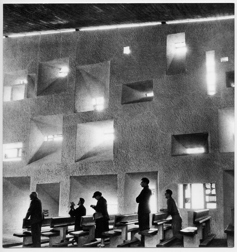 Lucien Hervé:  Chapelle de Ronchamps , 1954. Reproduced with kind permission © Estate of Lucien Hervé, Paris.