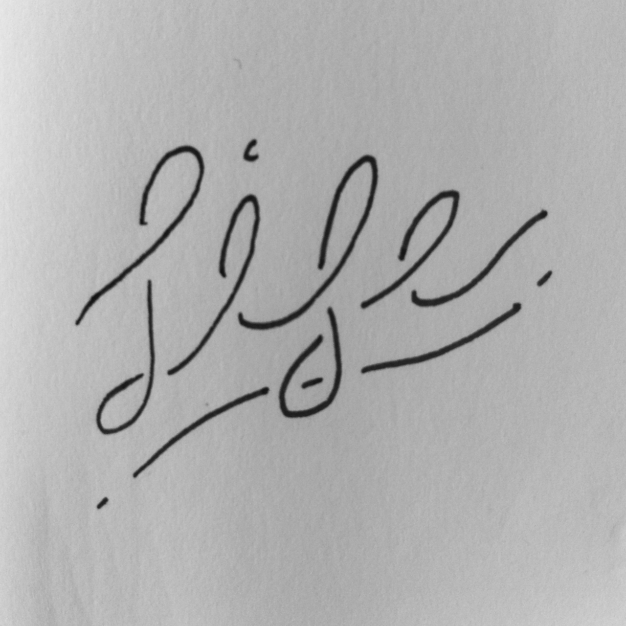 Hand lettering practice - Life.