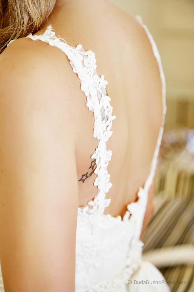 Detalle de encaje del Vestido de novia