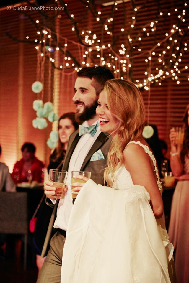 Novios en la boda
