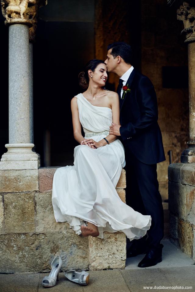 Sesión fotos de boda en el monasterio de sant cugat