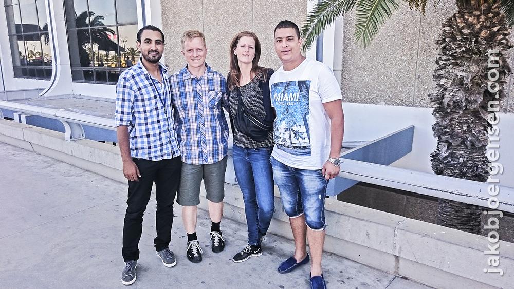 Afsked med vores to hjælpere Marwen og Ahmed i Tunis lufthavn