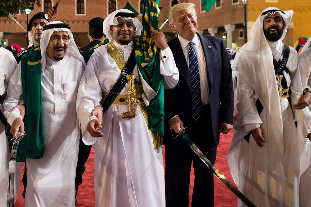 Trump arming the Saudi's.jpg