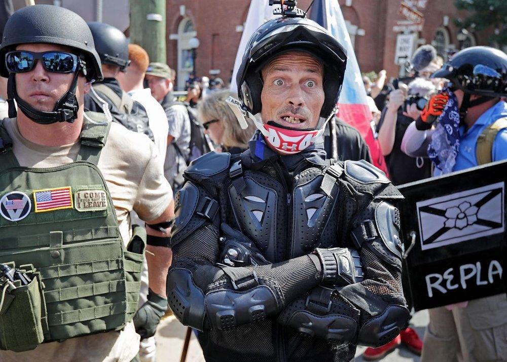 Voorbereid op een 'vreedzame' demonstratie (Foto: Chip Somodevilla/Getty)