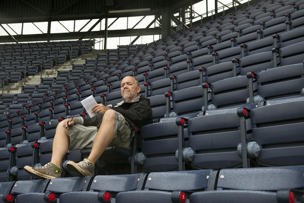 Author Ray Glier, alone in the cheap seats, Atlanta Braves vs. Washington Nationals.