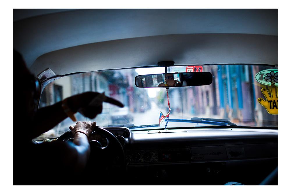 Taxi Ride. Havana, Cuba