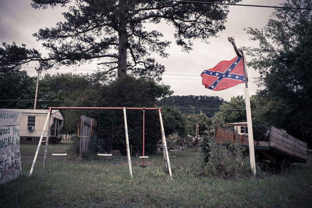 Rebel Flag and Swing Set, Ellijay, Ga.