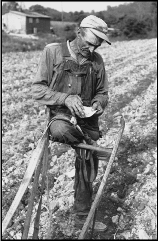 Kentucky Farmer, 1966, shot by a teenage Lawson Little