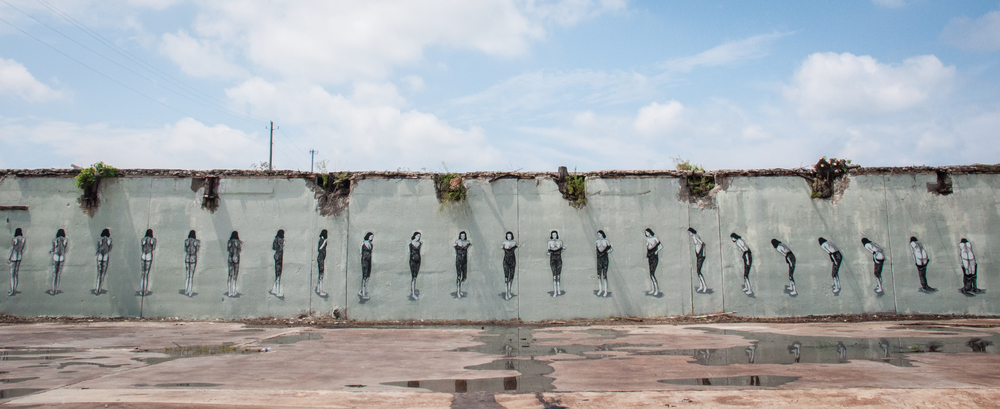 This mural by the artist Huyro was a Living Walls project caused a bit of controversy. Photo by John McNicholas.