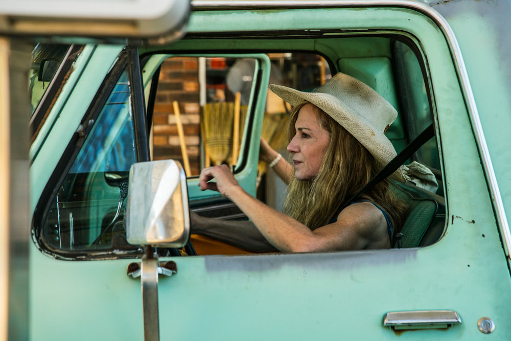 "Holly Hunter in Katherine Dieckmann's new film, ""Strange Weather,"" filmed largely in Mississippi"