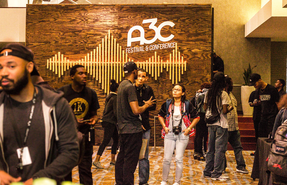 On the floor at A3C. (Photo by Chyna E. Benoit for A3C)