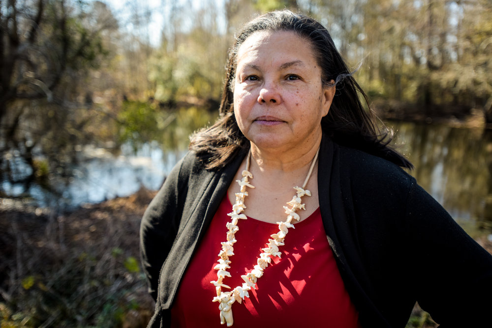 Donna Chavis co-founded the Center for Community Action, a Robeson County-based social justice organization that has campaigned against the Atlantic Coast Pipeline.