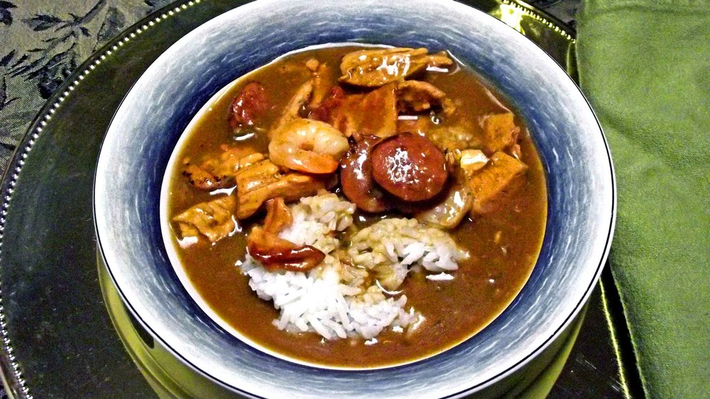 This is  not  kasimu harris' gumbo. See below.