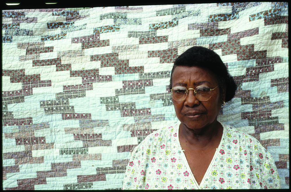 Pecolia Warner and her quilt, Yazoo City, Mississippi, 1975.jpg
