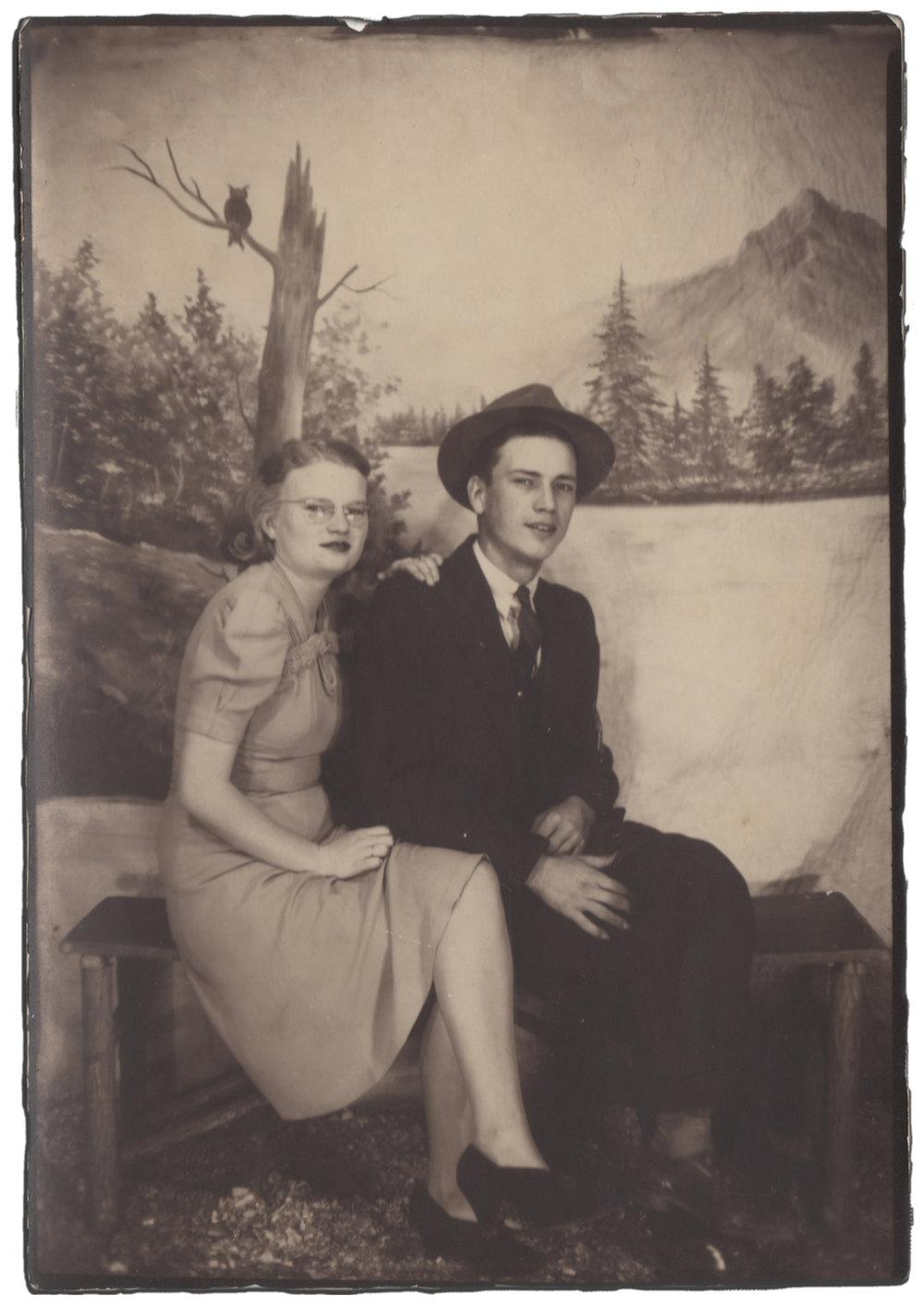 CLARENCE AND FLORA REECE, 1940